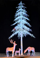 New outdoor Giant cone shapes optic fibre christmas led tree lighting