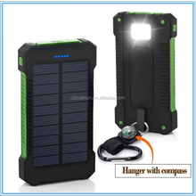 Slim Portable Solar Power Bank Charger Led, Mini Solar Powerbank