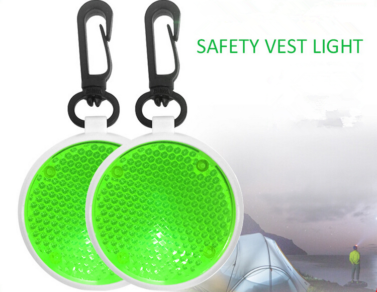 newest promotional gift custom color safty silicone led bag light