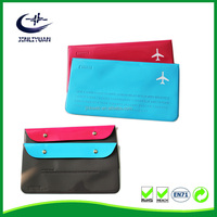 Hot Selling pvc leather Travel Passport Ticket Money Holder Organizer Bag