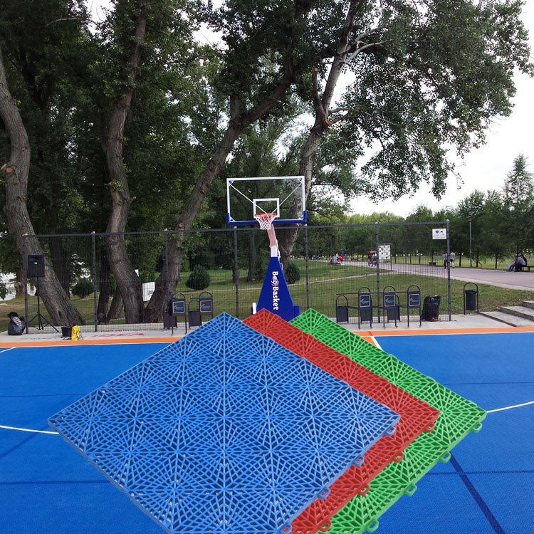 Cheap price custom best quality outdoor wood flooring for Cost to build outdoor basketball court