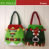 6x10 inch Elf Cloth Design handmade christmas bags