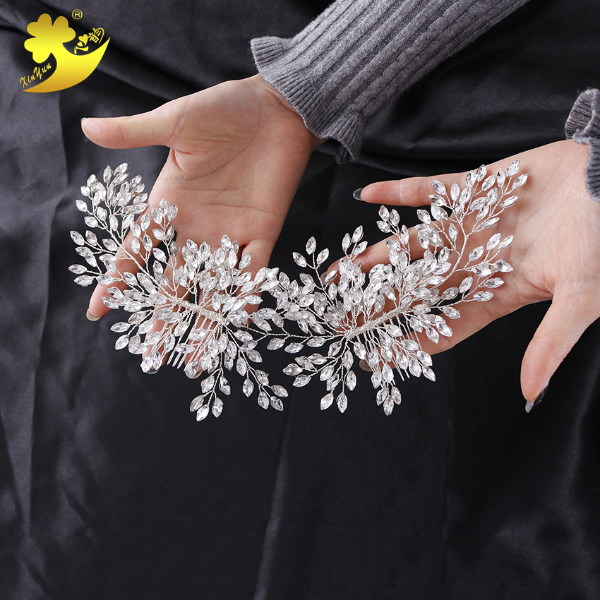Wholesale Elegant wedding crystal bridal <strong>hair</strong> <strong>accessories</strong> flower <strong>hair</strong> decorations