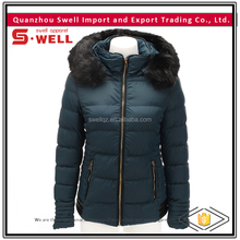 wholesale windproof fashion winter coat for women