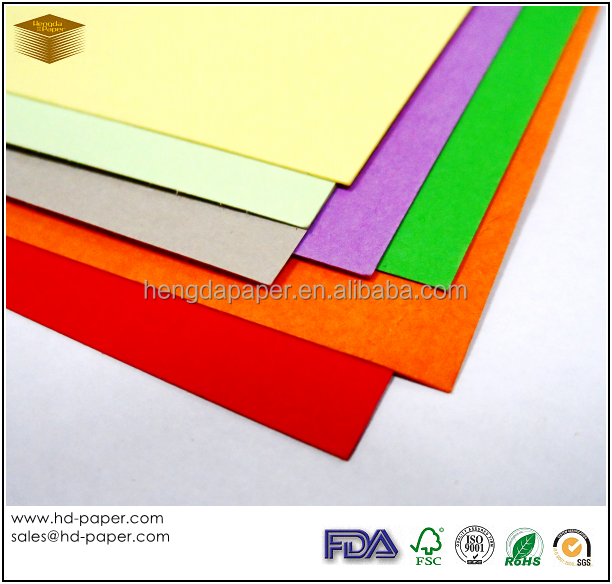 Uncoated Coloured Cardboard Paper