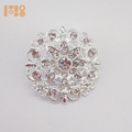 Silver Plated Rhinestone Small Flower Bouquet Wedding Party Brooch Pin Gift