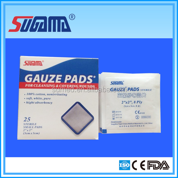 gauze sponges with x-ray vendas de gasa 2.5cm x 7m roll