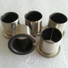 Flange DU Bushing/With shoulder Teflon bronze bush/PAF P10 flange PTFE slide bushing