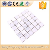 Popular White Marble Tiles Square Slate Mosaic Wholesale