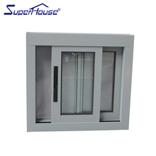 superhouse AS2047 standard energy efficiency soundproof small size aluminum sliding window with flynet