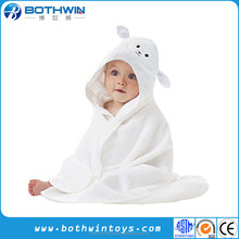 Super Soft Toddler White Lamb Organic Hooded Baby Towel
