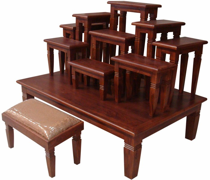 Furniture Teak altar tables Moo 9x9 Monk