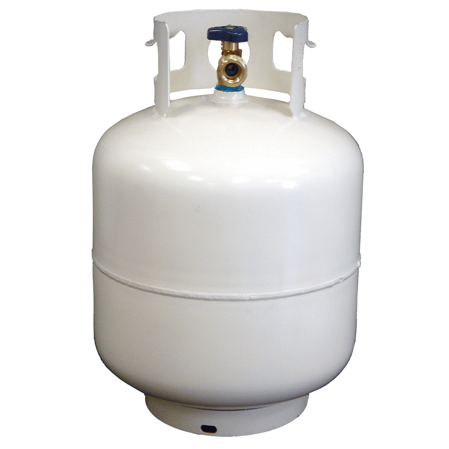 DOT standard 20LB gas storage cylinder with valve for sale
