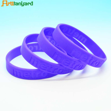 High quality custom hospital debossed silicone wristbands bracelet