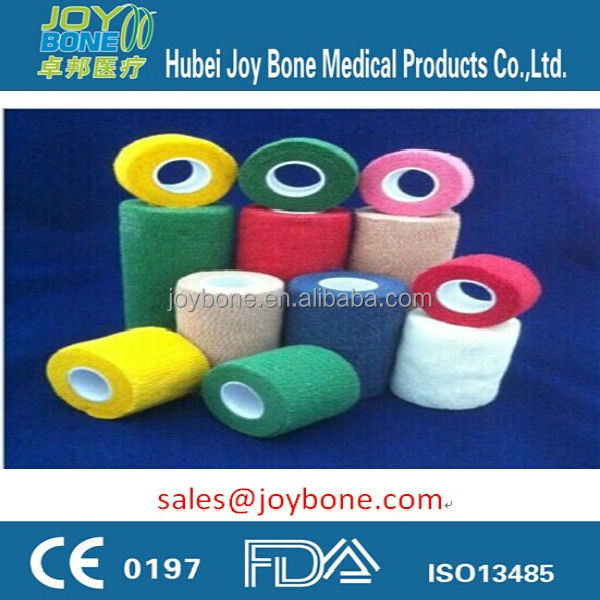 Cohesive elastic bandage with CE & ISO13485 certificated