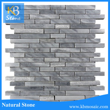 Hot sale italy grey grey strip marble wedding table crystals decoration