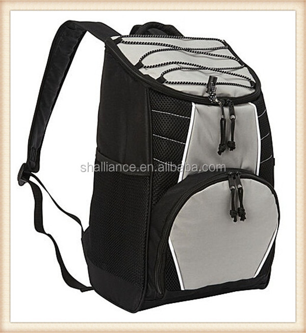 Outdoor promotional Fasionable Backpack insulated picnic polyester food cooler bag