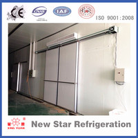 Cold room strong sliding doors with polyurethane
