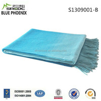 BLUE PHOENIX super soft gradient color 100% wool brand names of blanket