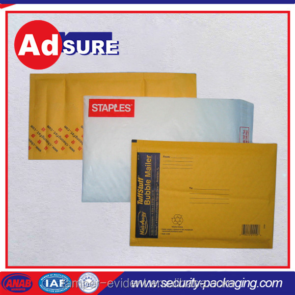 self sealing polythene envelope/custom mailing bags bubble/gold kraft bubble mailer
