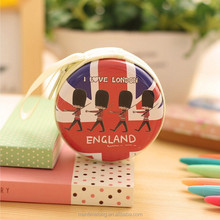 Fashion Korean Creative Coin Purse British Style Coin Bag Mini Headset Pouch Circular Purse London Soldier Handbag Wallet
