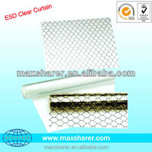 Hot selling ESD clear window curtain antistatic pvc curtain D06