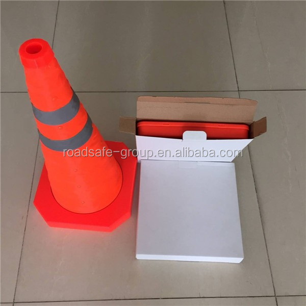 Roadway safety collapsible traffic cone Flexible PVC road cones