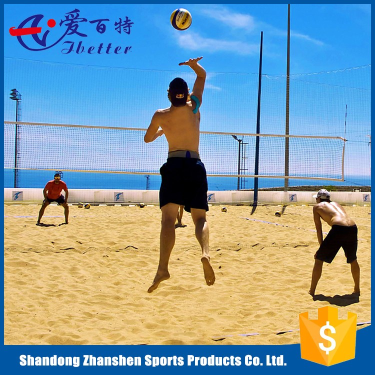PE/PP/Nylon Material Beach Volleyball Net Standard Size