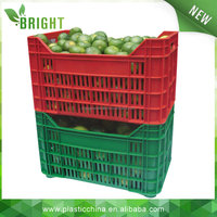 big stack ability plastic crates used for the storage and transport of fresh fruits and vegetables