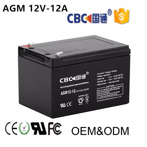 12V12AH Maintenance Free and Seal Type Solar Lead Acid Rechargeable Battery for Solar System