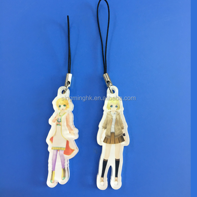 Acrylic Printed Charms for Apparel Ornaments, Handbag Hanging Tags