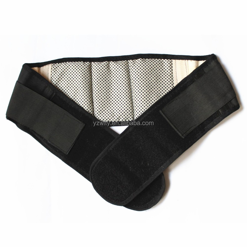 Factoty supply wholesale neoprene magnetic trimmer waist back support belt