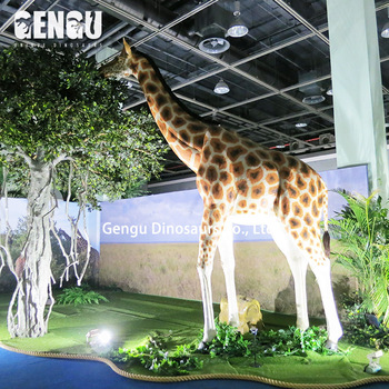 High Simulation Indoor Playground Animals - Animatronic Giraffe