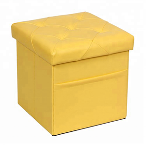 home furniture foldable pvc ottoman stool with storage