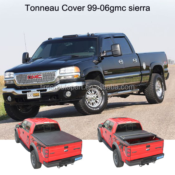 Compatible with 99-06 GMC sierra Hard Pickup bed cover truck tonneau cover