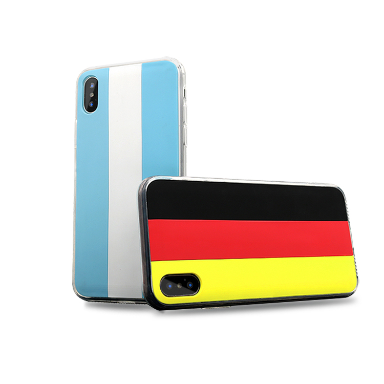 Wholesale national flag soft PVC mobile phone case,phone cover for iphone 10