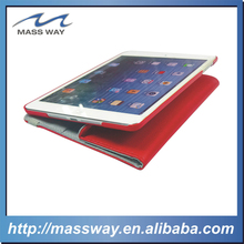 blank customPU red leaher case for IPAD