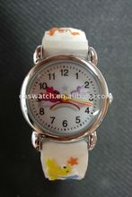 Rainbow and birds pattern on fancy child watch with