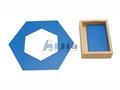 Montessori material Constructive Blue Triangles