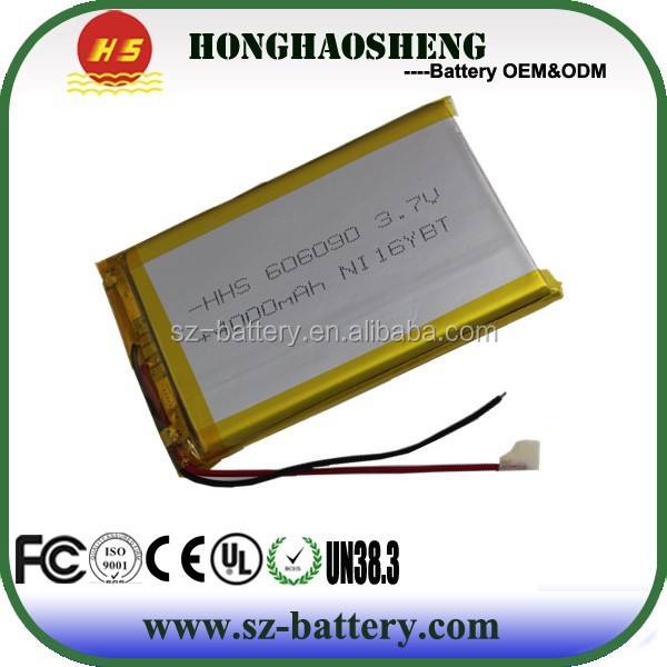 HHS106070 lipo battery 4000mah lithium polymer batteries 606090 battery polymer 3.7 v 4000 mah