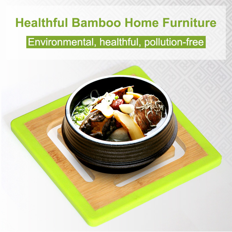 Counters and Tables Use <strong>Natural</strong> Bamboo Trivet Hot Mat for Kitchen Dining Room Table