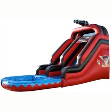 commercial grade 20ft Pirate theme inflatable water slide/ waterslide for adult and kids