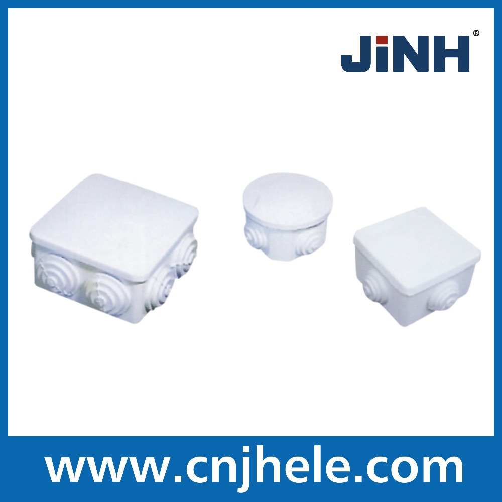 2016 the most popular in China High Quality Flat Round Waterproof Junction Box IP65 with cable gland ABS junction box