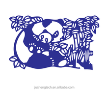 China Panda and Bamboo Etch Stencils Metal Craft for Scrapbooking Dies