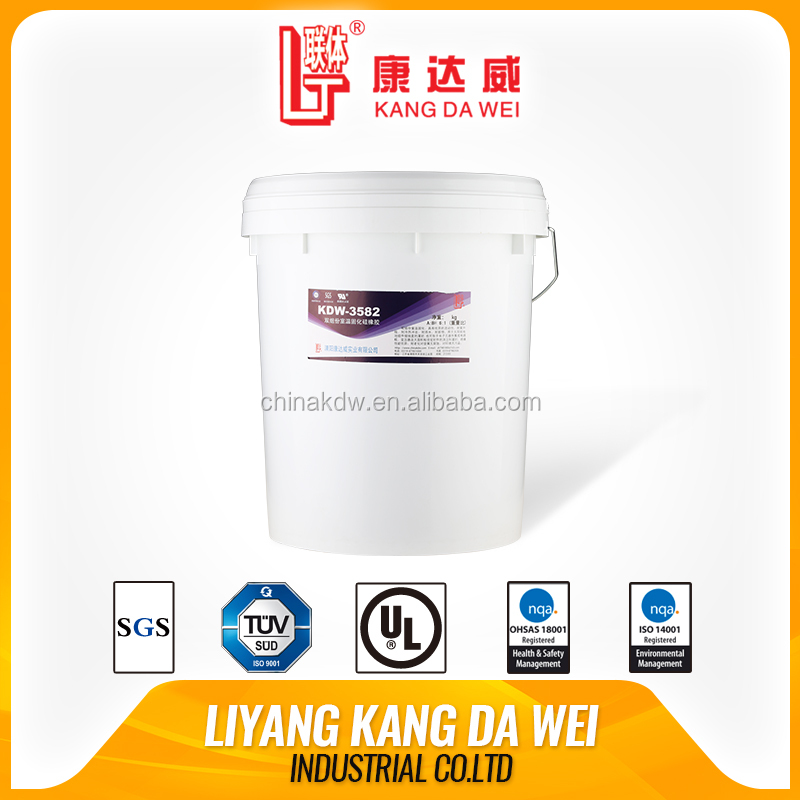 Two components high temperature adhesive for solar module