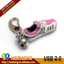 Beautiful Pink Football Shoe USB Flash Stick 16GB