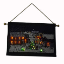 Wholesale tapestry wall hangings LED home tapestry for decor