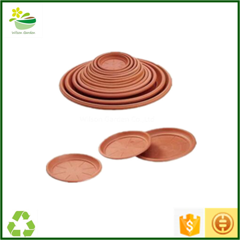 Plastic plant trays wholesale round decorative planter trays supplier