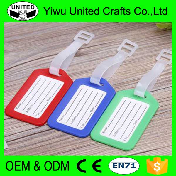 Wholesale custom printed plastic baggage tag for airlines