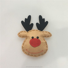 online shop china handmade toys for kids indoor plush wall decorations felt mini brown deer imported christmas ornaments